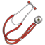 Red Stethoscope icon