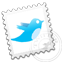 Grey Twitter stamp Icon