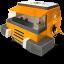 space racing car orange icon