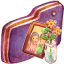Images Violet Folder icon