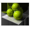 Green Spheres-128