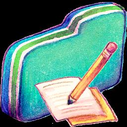 Note Green Folder