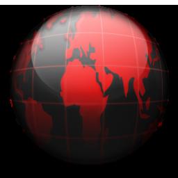 Globe black red