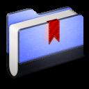 Bookmarks Blue Folder-128