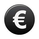 currency black euro