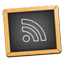 BlackBoard Feed Black Icon