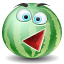 Watermelon emoticon icon