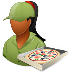 Pizzadeliveryman Female Dark