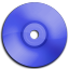 Cd DVD Dark Blue icon