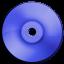 Cd DVD Dark Blue icon