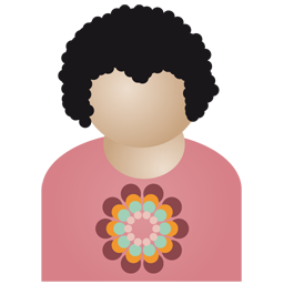 Afro man flower