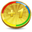 Google Plus One Coin-64