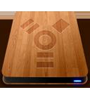 Wooden Slick Drives Firewire-128
