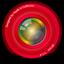 Red Aperture Icon
