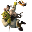 Shrek Donkey and Puss Flying icon