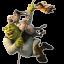 Shrek Donkey and Puss Flying-64