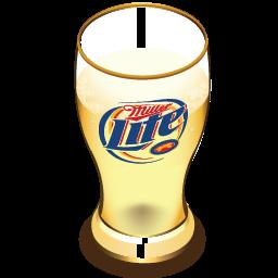Miller beer glass