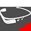 Google Glass sketch icon