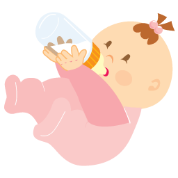 Baby Girl Drinking