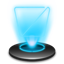 Recycle Empty Hologram icon