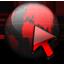 Network Service black red Icon