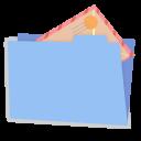 Blue folder mail alt-128