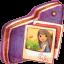 Pictures Violet Folder icon
