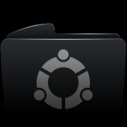 Folder black ubuntu