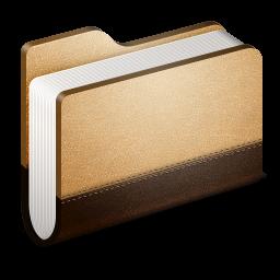 Library Brown Folder