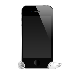 iPhone 4G with headphones