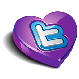 Twitter purple heart