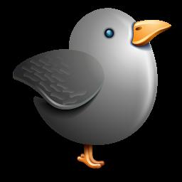 Twitter grey bird