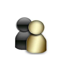 Messenger Gold Icon Download Black And Gold Icons Iconspedia