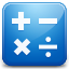 Calculator blue Icon