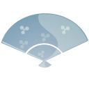 Fan blue-128