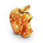 Mac orange flowers icon