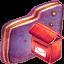 Mailbox Violet Folder icon