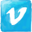 Vimeo hand drawn Icon
