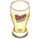 Coors beer glass-128