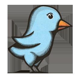 Woodprint Twitter Bird
