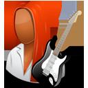 Guitarist Female Dark-128