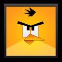 Yellow Angry Bird Black Frame-128