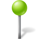 Map Marker Ball Chartreuse-128