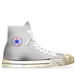 Converse White dirty-256