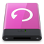 HDD Pink Backup W icon