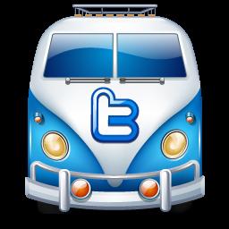Twitter van blue