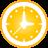 Clock yellow icon