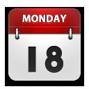 Calendar rounded