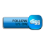 Follow Digg blue icon