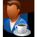 Person Coffeebreak Male Dark-128